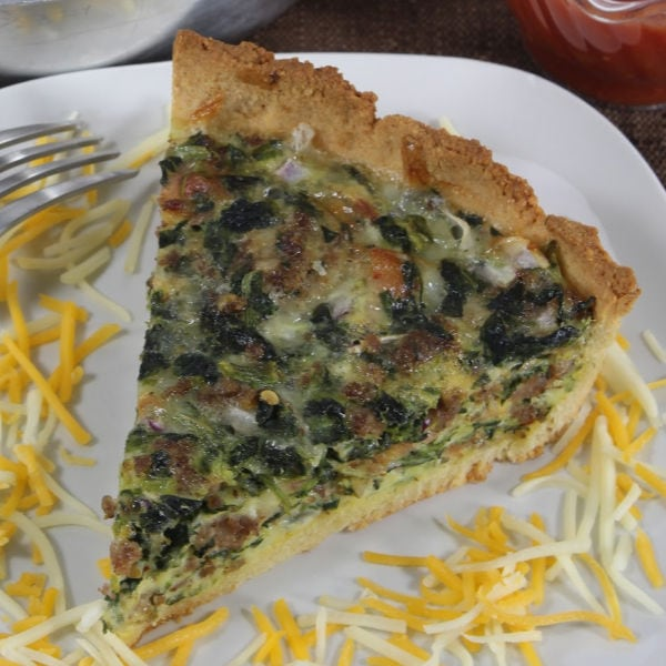Southwestern Quiche with Low Carb Crust