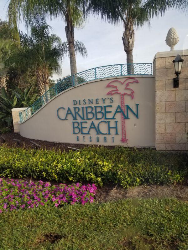 Disney Caribbean Beach Resort sign