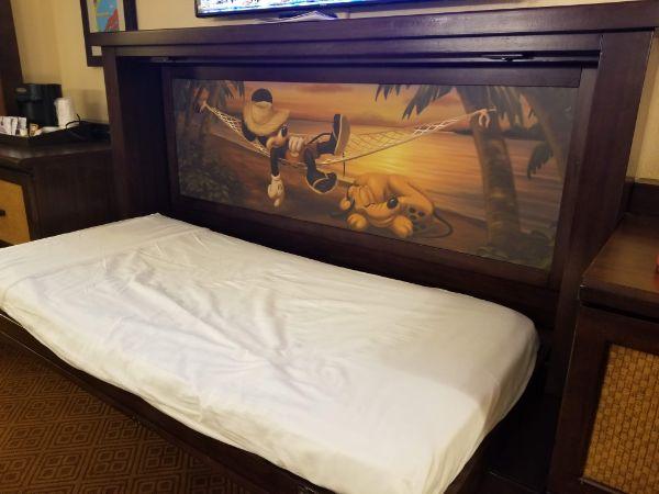 Disney Caribbean Beach Resort murphy bed