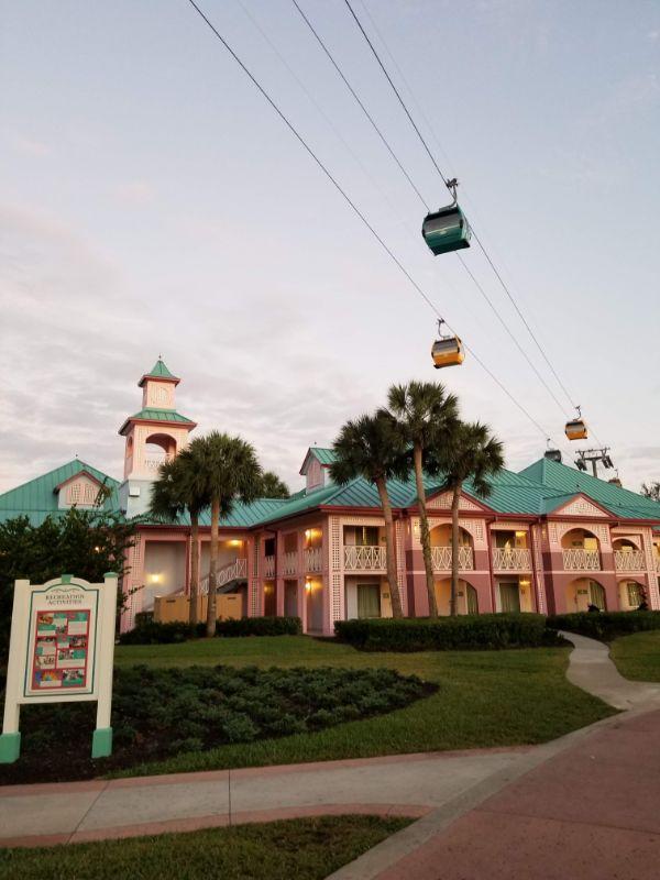 Disney Caribbean Beach Resort skyliners