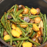 Air Fryer Potatoes and Green Beans