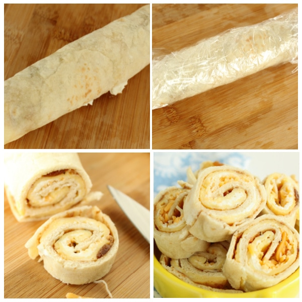 instructions for cutting up breakfast pinwheels