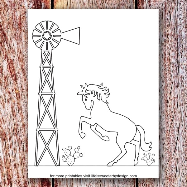- Horse Coloring Page - Life Is Sweeter By Design