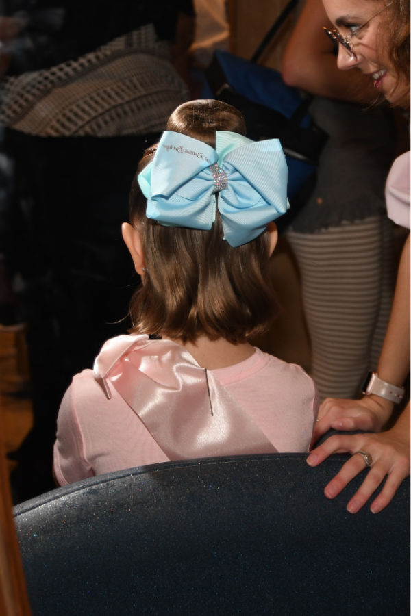 back of hair after appointment at Bibbidi Bobbidi Boutique