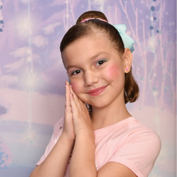 picture of girl after being at Bibbidi Bobbidi Boutique