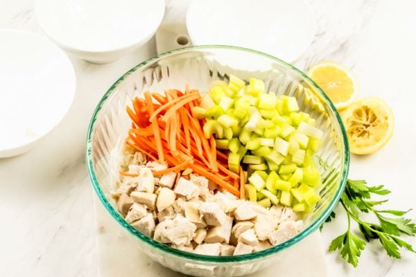 easy steps for making Skinny Chicken Salad