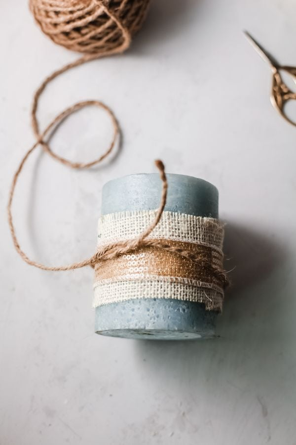 how to tie twine around candles
