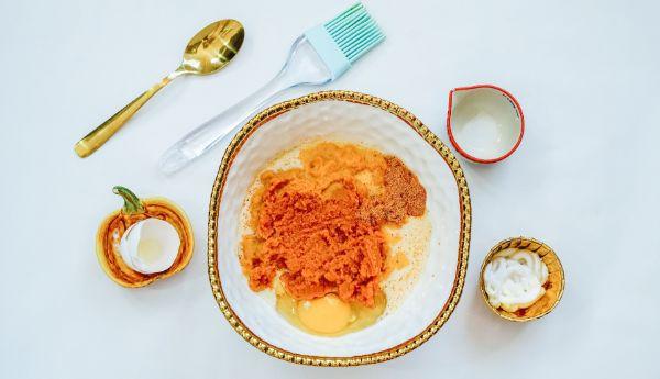 how to make filling for Air Fryer Pumpkin Dessert Balls