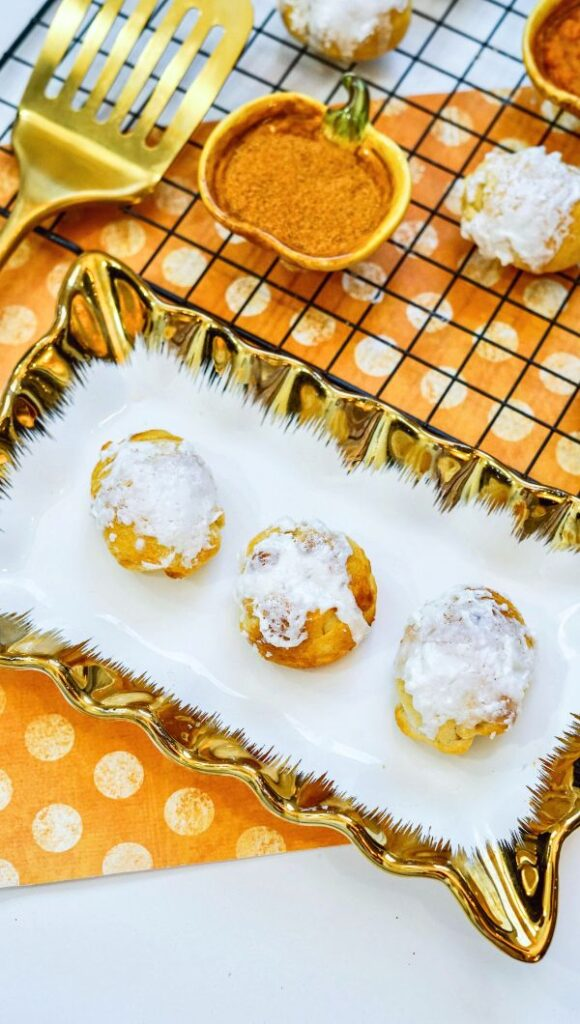 Air Fryer Pumpkin Dessert Balls