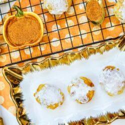 Air Fryer Pumpkin Dessert Balls