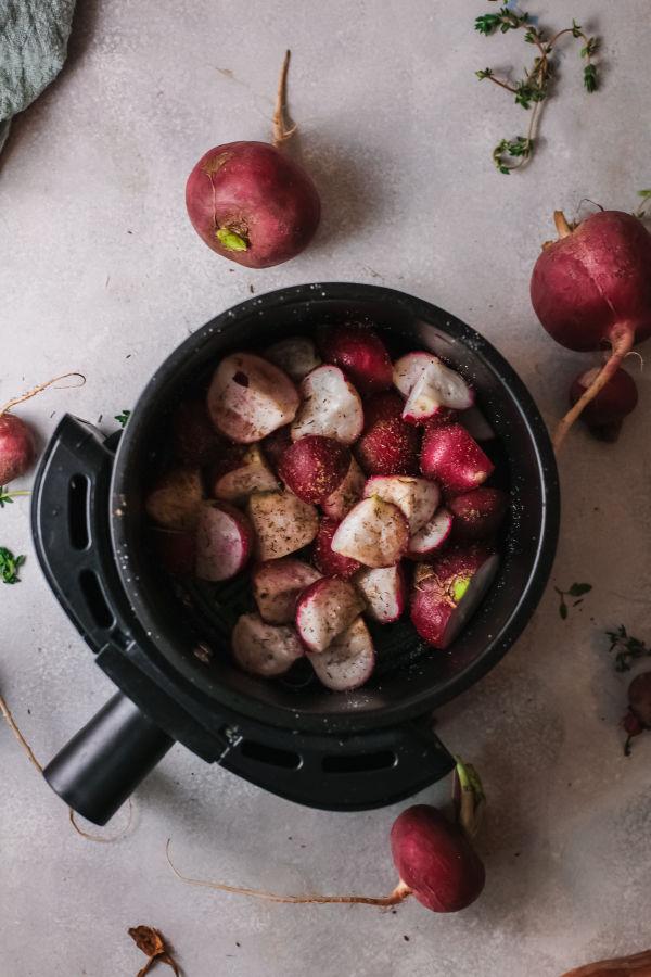 seasoned radishes in air fryer