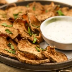 air fryer sweet potato chips