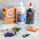 supplies needed for Halloween Slime with Pumpkin Confetti