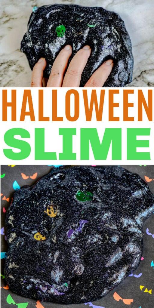 Halloween Slime with Pumpkin Confetti