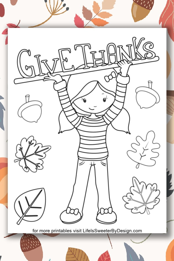 - Thanksgiving Coloring Pages For Kids - Life Is Sweeter By Design