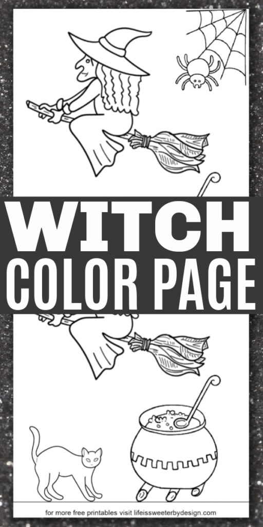 free printable witch coloring page
