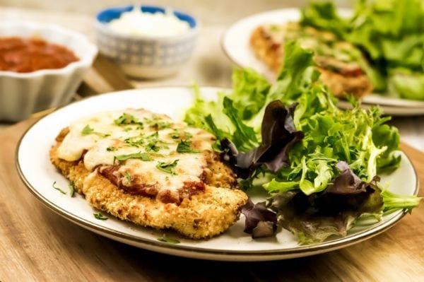 easy air fryer chicken Parmesan