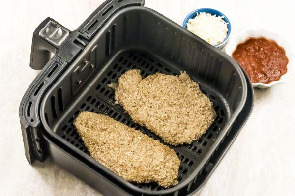 how to make air fryer chicken parmesan