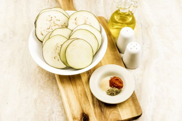 ingredients for air fryer eggplant chips