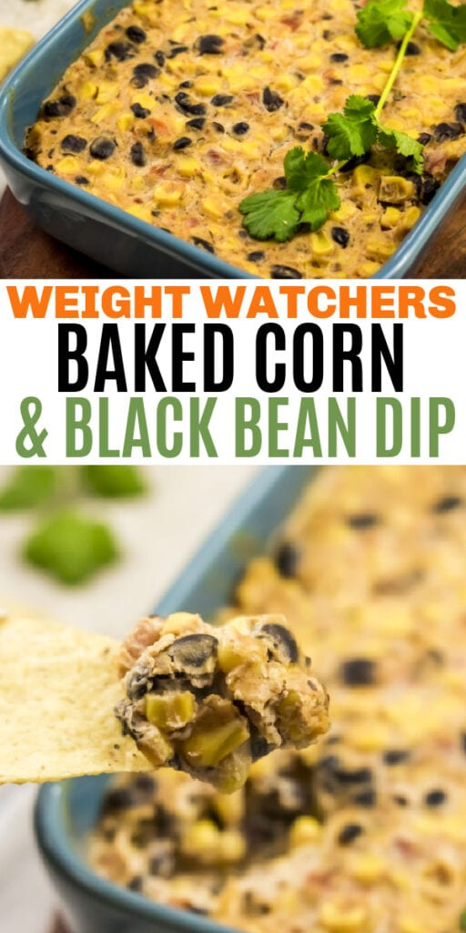 WW Baked Black Bean and Corn Dip