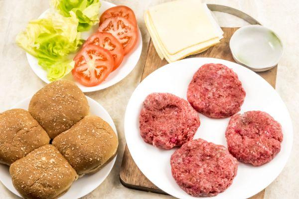 ingredients for air fryer hamburgers