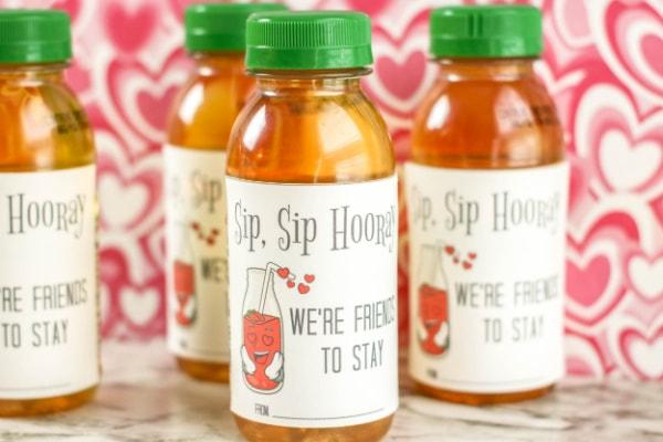 Printable Sip Sip Hooray Valentines