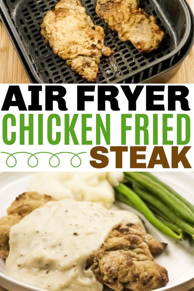 Air Fryer Chicken Fried Steak and Gravy