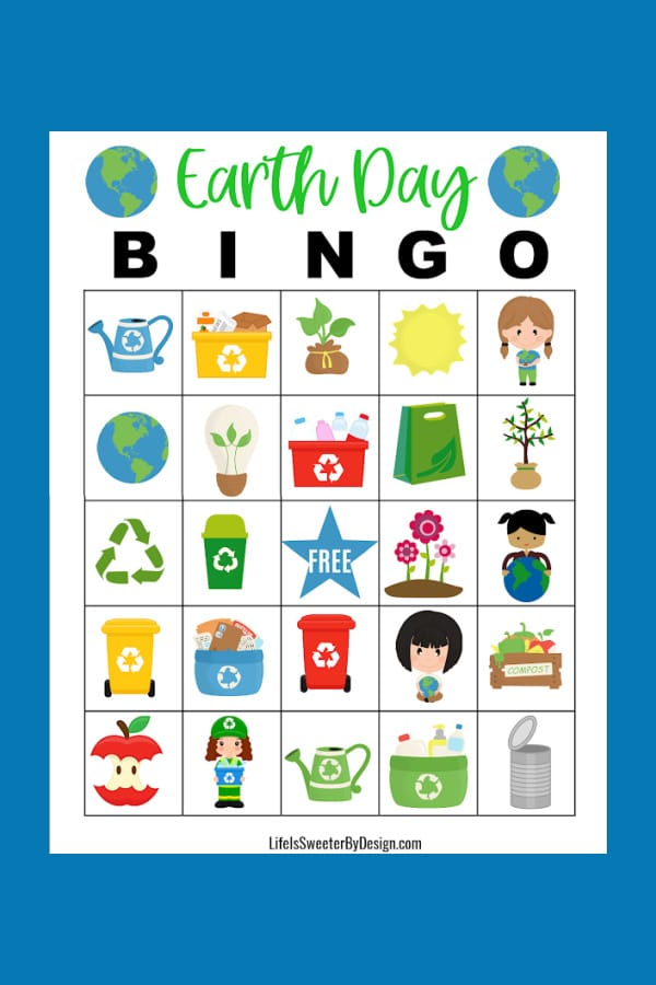 Earth Day Bingo Cards