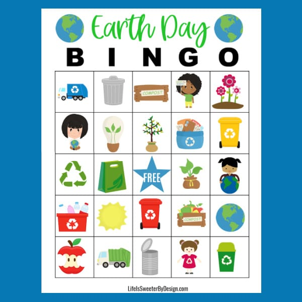 Earth Day Bingo Cards for Classroom