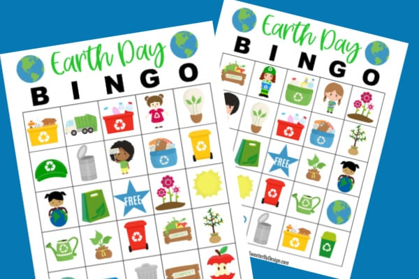Earth Day Bingo Cards for the classroom