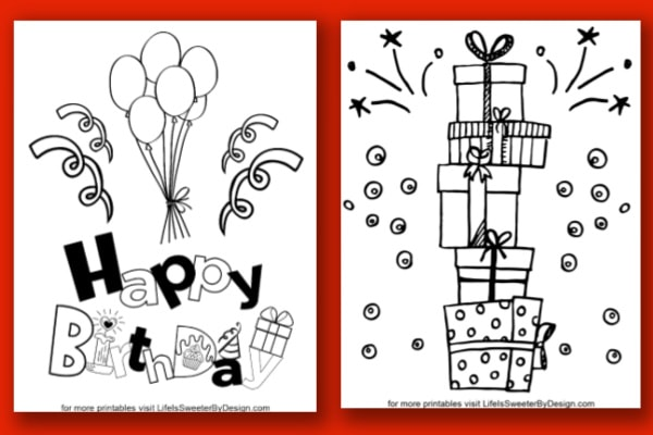 Happy Birthday Coloring Pages - Life Is Sweeter By Design