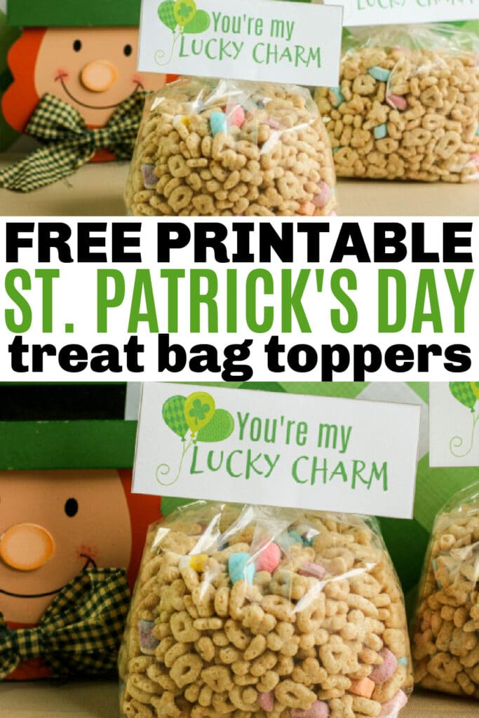 Free Printable St. Patrick's Day Treat Bag Toppers