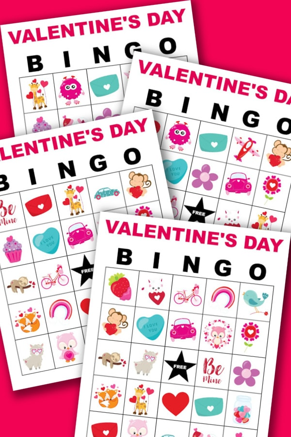 Valentine's Day Bingo Cards for classroom