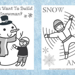 winter coloring pages for kids