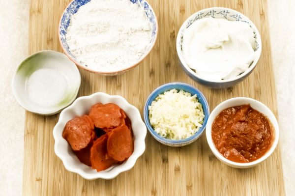 ingredients for air fryer pizza pockets