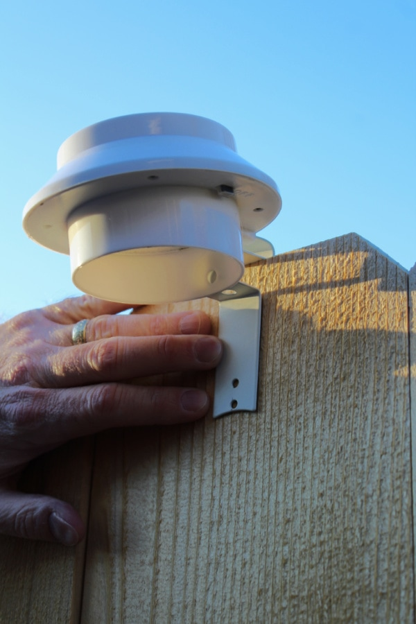 installing solar lights on fence
