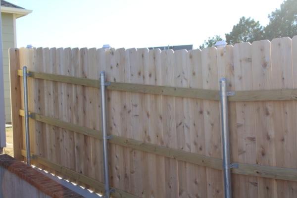 solar lights on fence
