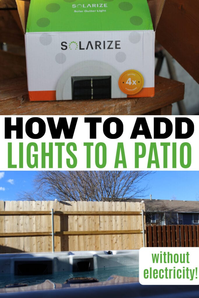 how to add light to a patio area