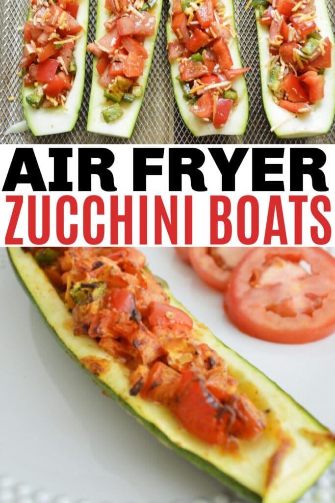 Air Fryer Zucchini boats