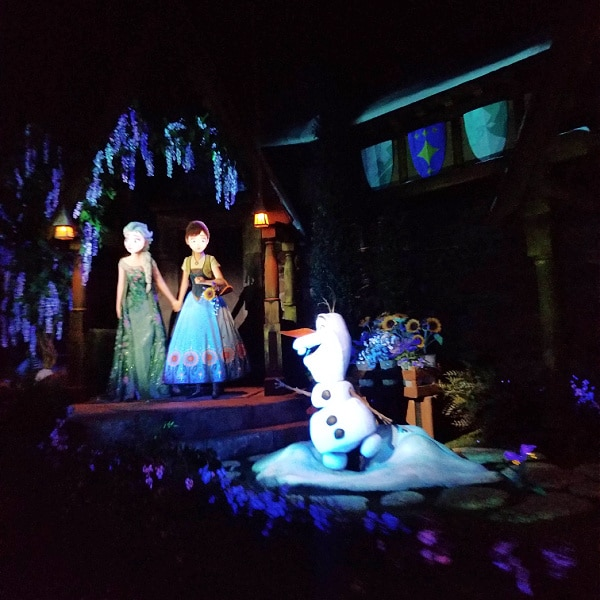 inside the Frozen Ever After ride at Epcot Disney World