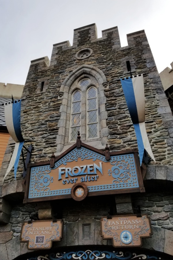 entrance to Frozen Ever After ride at Epcot