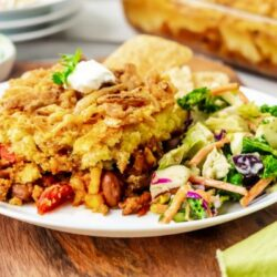 easy cornbread taco casserole