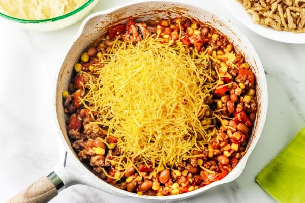 meat mixture for cornbread taco bake