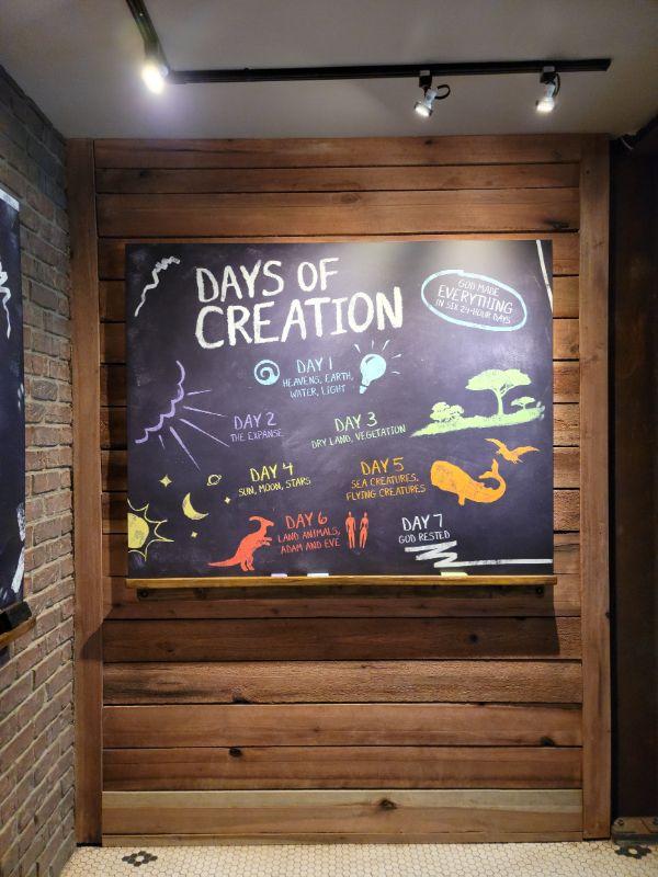 Creation Museum info board