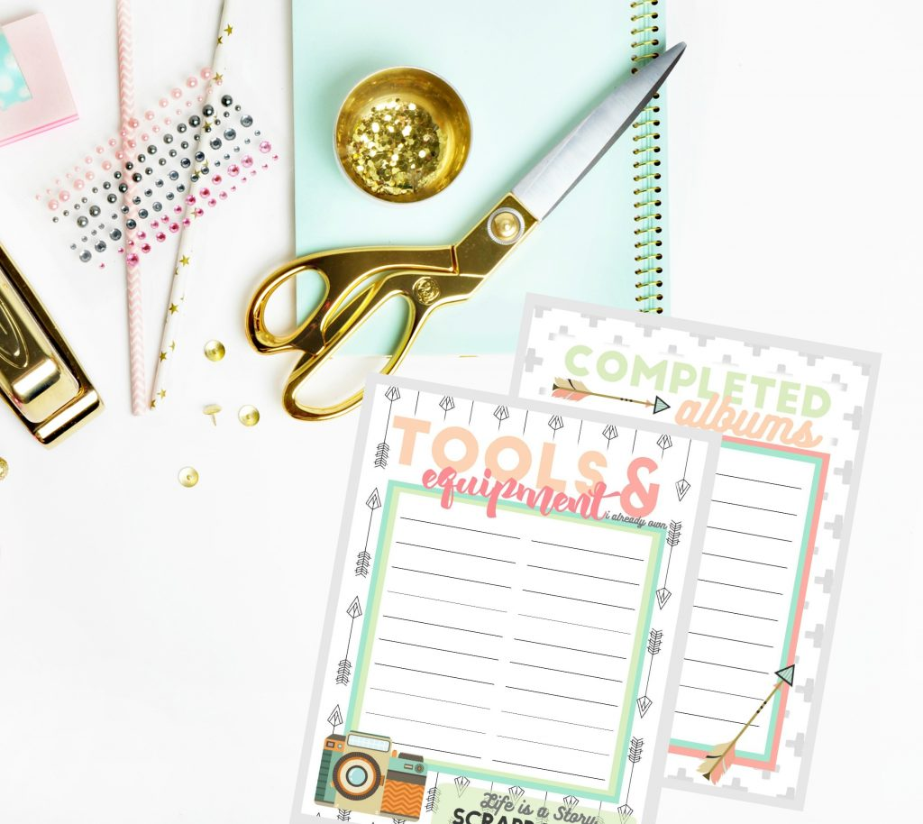 scrapbook organizational planner pages